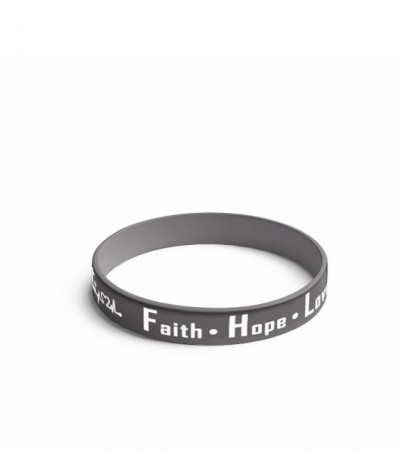 Pulseira preta Faith - Hope - Love