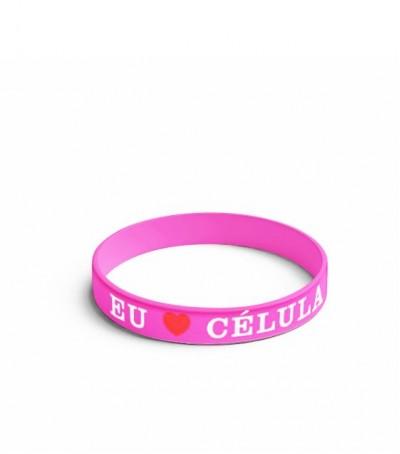 Pulseira rosa Eu Amo Célula