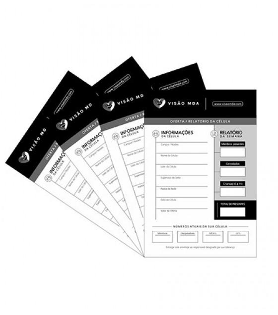 Envelope de Oferta/Relatório da Célula (kit 100 und)