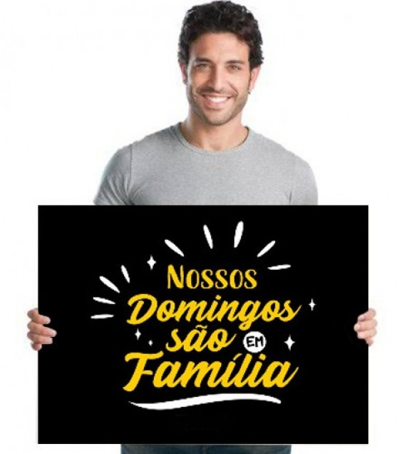 Placa de Boas-Vindas - Domingo em Família