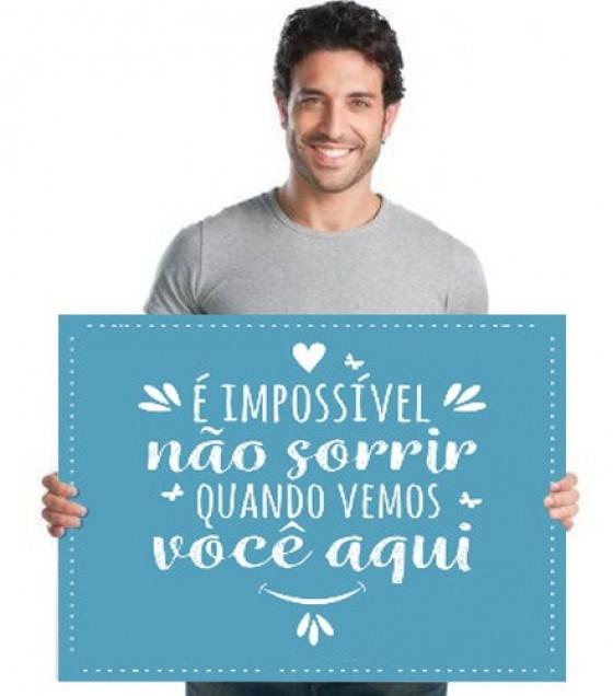 Placa de Boas-Vindas - Impossível Não Sorrir